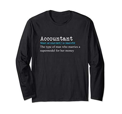 Lustiges CPA, Auditor oder Buchhalter Definition Geschenk Langarmshirt
