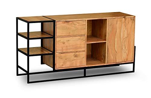 Main Möbel dressoir 158x80cm 'Denver' Acacia & metaal