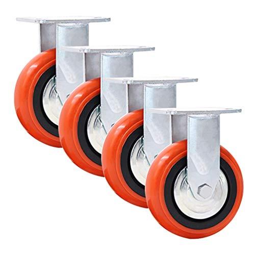 Ruedas de poliuretano de 1600 kg, ruedas giratorias con freno, ruedas de repuesto para equipos, 100/125/150/200 mm