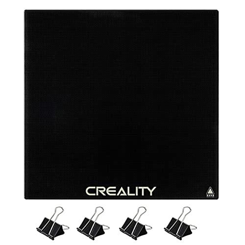 3D Printer Platforms, Tempered Glass Heated Bed, Glass Build Surface Build Plate Hot Bed with 4 Bed Clips, for Creality Ender 3 Ender 3 Pro Ender 5 Ender 5 Pro Ender 3 V2, 235x235mm