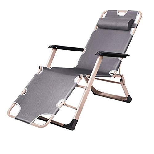 Pliant Inclinable Inclinable Salon De Relaxation Casual Pont De Lazy Camping Chaise Portable Plage De Pêche Camping Jardin Balcon Détachable Appui-Tête Soutien 350lbs