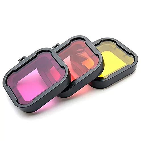 Quintion Child 3 Colores polarizador de Buceo bajo el Agua Lentes de Filtro UV for GoPro héroe (Color : Yellow)