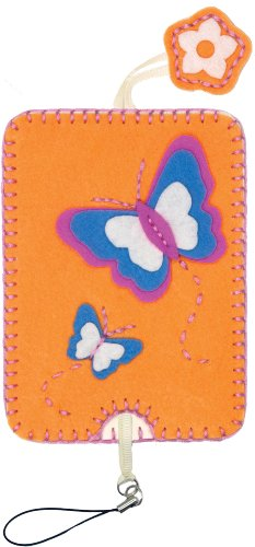 Dimensions Needlecrafts Feltworks Embroidery, Butterfly Camera Case