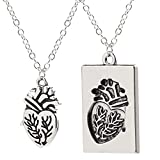 FYWEITM Halskette, Schmuck Choker Kreative Puzzle Paar Anatomisches Herz Halskette Frauen Romantische Kette Anhänger Mode Geständnis Geschenk Schmuck