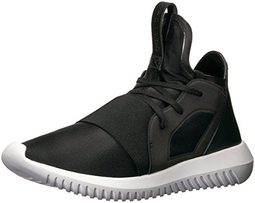 adidas Originals Women's Tubular Defiant Running Shoe, Black/Core White, (11.5 M US)