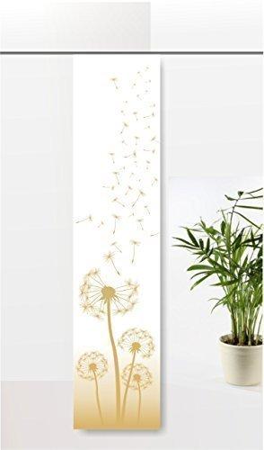 gardinen-for-life Flächenvorhang Dandelion Golden Dream, Schiebevorhang mit Tollem Druck-Motiv, Gr.60x260 cm Frühlingsvorhang, Pusteblume