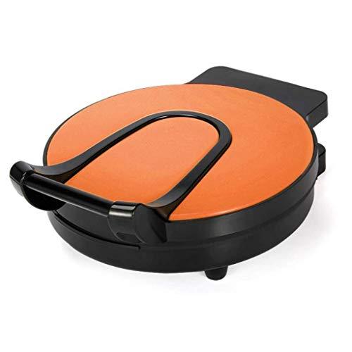 Elektrischer Teppanyaki Grill Tisch Hot Grillplatte for Küche Dinner Party Camping Festival Kochen Doppelseitiger schwimmend, 1200W (Color : Orange)