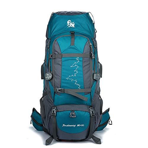 Yinglihua reistas voor camping, 80 l + 5 l voor wandelen, reizen in de open lucht, klimmen voor mannen en vrouwen
