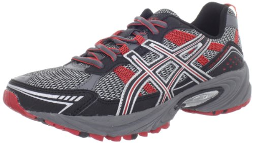 ASICS Men's GEL-Venture 4 Running Shoe,Charcoal/Black/Red,7 M US
