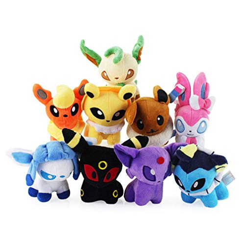 EASTVAPS 9pcs Pokemon posición Sylveon Umbreon muñeco de