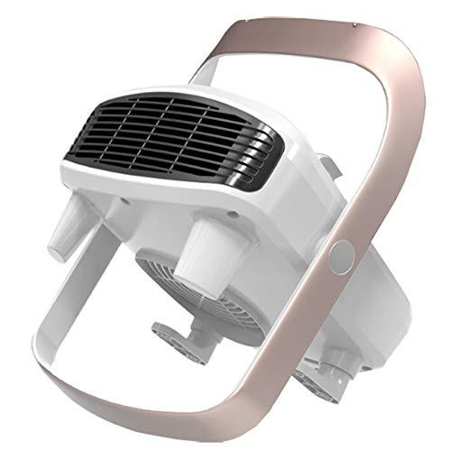 SHPEHP Baño Calentador De Espacio,Silencioso Cerámico Calefactor con Protección contra Sobrecalentamiento Calentamiento rápido Soporte Giratorio Hogar Calentador De Espacio Personal 3 A-Blanco Un