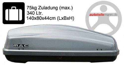 Modula dakkoffer Ciao 340 autobox zilver glanzend