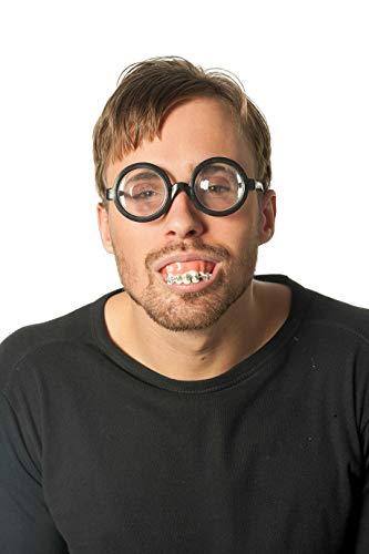 Unbekannt Doofi Nerd Frauenschreck Zähne mit Zahnspange und Doofibrille im Set