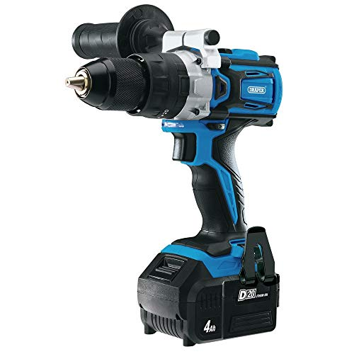 Draper 79894 D20 20V Brushless Combi Drill with 4.0Ah Battery and Fast Charger, 20 V