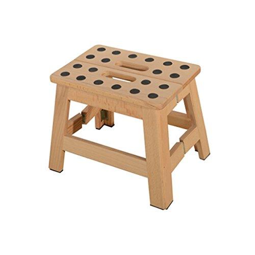 TangMengYun Tabouret Pliant en Bois Massif Couleur Bois Portable Style Chinois intérieur et extérieur 28 * 19 * 22cm