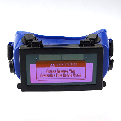 Maso Pro Schweißbrille mit automatischer Verdunkelung - Solar Automatik Verdunkelung Schweißmaske Helmbrille Augenschutz Solarzelle Power + automatische Verdunkelung + elastische