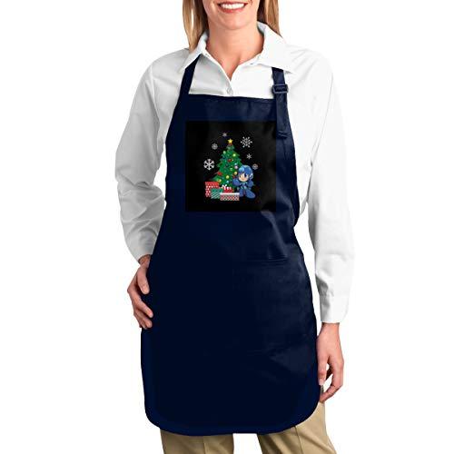 NULLIAHSGB Arbeitsschürze, Mega-Mann um den Weihnachtsbaum, strapazierfähig, Segeltuch, Werkzeugtaschen, Rückengurte verstellbar