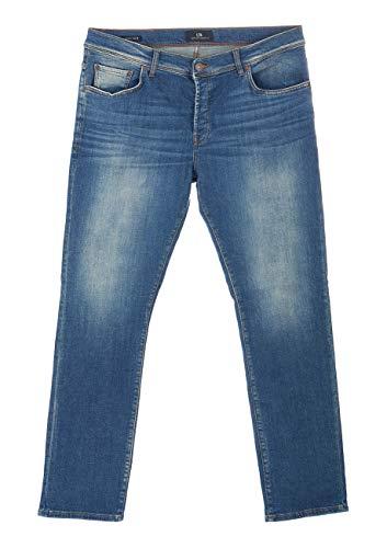 LTB Herren Jeans Jeanshose Sawyer - Slim Fit - Blau - Leonard Undamaged Wash W28-W42 95% Baumwolle Stretchjeans schmal geschnitten, Größe:W 33 L 30, Farbvariante:Leonard Undamaged Wash (50697)
