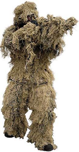 Joytea Ghillie Suit Anzug Gewehr Parka 4-Teilig (Jacke, Hose, Kopfbedeckung und Gewehrabdeckung)