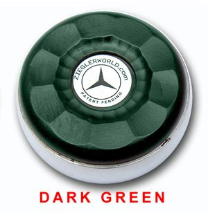 Learn More About ZieglerWorld Table Large Shuffleboard Puck Weights - Dark Green - Yellow Gold