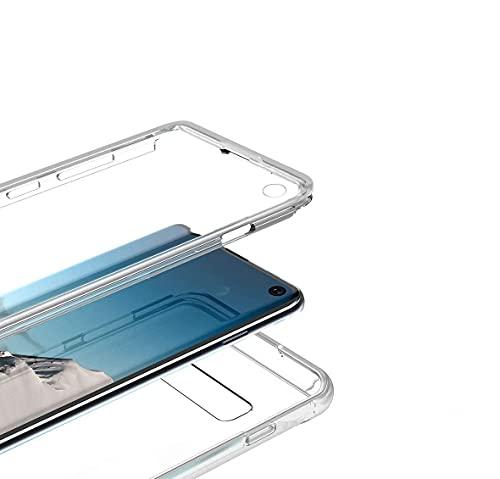 Le Petit Français® - Carcasa para Samsung Galaxy S10 Lite transparente, protección antigolpes, silicona delantera trasera, completa, híbrida y completa para Galaxy S10 Lite, transparente