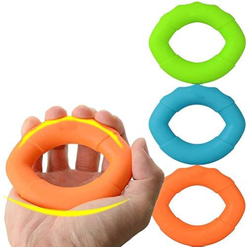 CLFYOU Grip Stärkungs Silikon Unterarm- Ring 3 Pack-Grip Stärkungs Silikon Unterarm- Ring Hand Exercisers Silikon-Gripper für Muskelkräftigung Trainings-Werkzeug