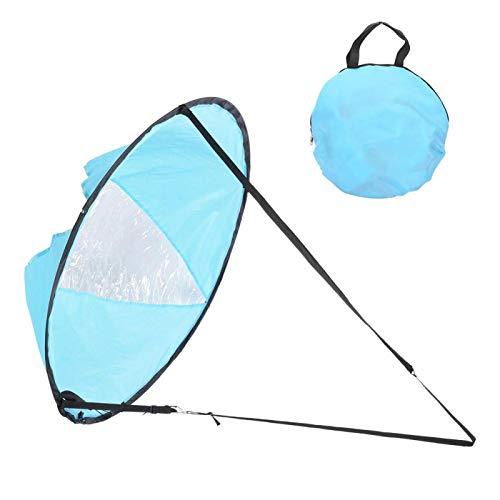 XiangXin Paleta de Viento a Favor del Viento, Paleta de Vela de Viento de Canoa portátil, PVC 108 cm Durable Canoa Duradera para Kayak(Lake Blue)