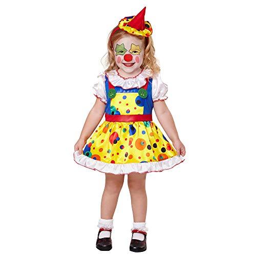 Costume Bambina Clown girl Taglia 116 cm / 4-5 Anni