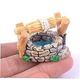 Sanfiyya - Mini resina per pozzo d'acqua e paesaggio in miniatura, ornamento vintage per casa, cascata, statue, decorazione da giardino