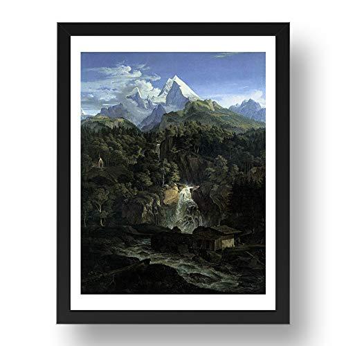 Period Prints RICHTER, Adrian Ludwig: The Watzman, arte vintage, impresión histórica, reproducción...