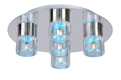 Lucide 32151/25/11 Tabu-LED Plafonnier Verre + Métal