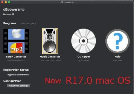 dBpoweramp R17.5 MacOS Big Sur 11.5 Intel & M1 ネイティブ対応
