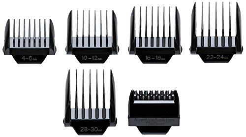 Oster C100 - Lote de peines guía de repuesto para cortapelos C100 iónico, 5 unidades