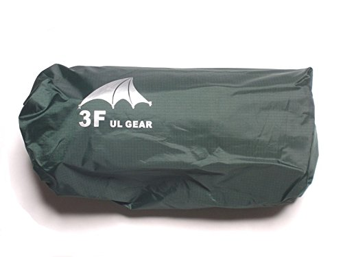 3F UL GEAR 多目的ト 防水マルチシート ダークグリーン カーキ 4m×3m /5m×3m タープ・ピクニックシート・簡易雨具・グランドシート シームテープ5m付 ダークグリーン4m×3m