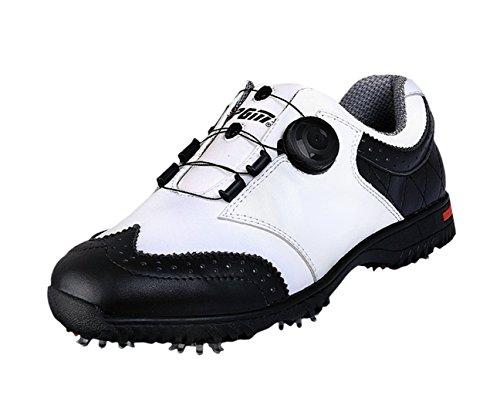 PGM Echtes Leder wasserdicht Golfschuhe für Herren mit Boa Lace System