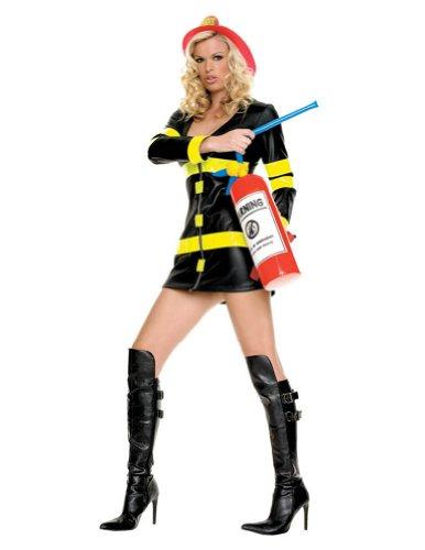 Leg Avenue - Sexy Feuerwehrfrau Kostüm - L -