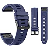 MCXGL Replacement for Garmin Fenix 5X Strap Sport Silicone Watch Bands Fenix 5X Plus/Fenix 5X / Fenix 3 / Fenix 3 HR
