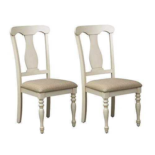 Liberty Furniture Industries Ocean Isle Uph Splat Back Side Chair - Set of 2, W20 x D24 x H41, White