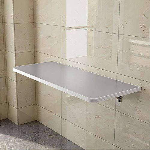 ZXYY Heavy Duty Wandmontage Druppelblad Tafel - Eenvoudige Computer Bureau Vouwen Keuken Eettafel 220 lb 100 kg Lading (Zilver) (Maat: 100x30cm)