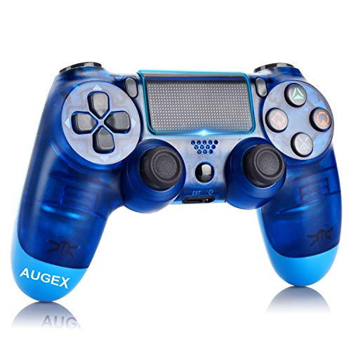 Game Controller for PS4,Wireless Controller with Dual Vibration Game Joystick (Blue)
