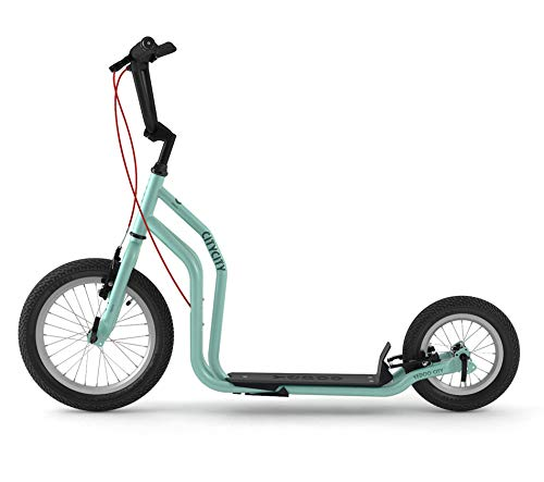 RunRun Yedoo City Scooter 16/12 Zoll blau | Tretroller mit Offroad-Reifen | Nachfolgemodell des City New