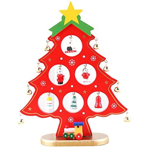 Uniquelove Árbol De Navidad Decoración De Navidad Árbol De Navidad De Madera Decoración De Escritorio Mini Árbol De Navidad Decoración del Hogar