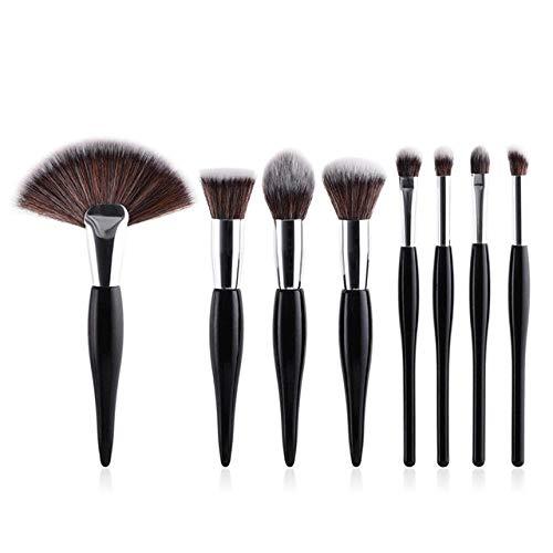 Fanxp® 8Pcs Black Professional Makeup Brushes Set, Multifunctional Makeup Brush, Powder Blush Foundation Eyeshadow Make Up Brushes Set