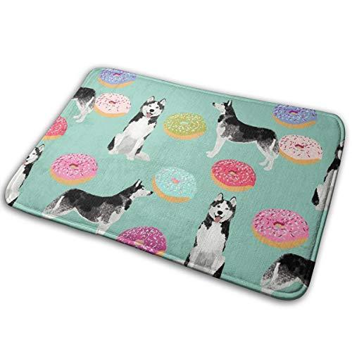 Deurmat van donutstof voor honden, hondenweefsel, stoffen hond, mooi, 16 x 24 inch