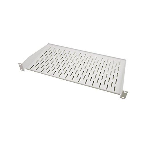 """BIGtec 19\"""" 1HE Fachboden Ablageboden Einlageboden grau Tiefe 250mm Nutzbreite 445mm für Wandgehäuse Netzwerkschränke Serverschränke Rack-Rahmen RAL7035 Traglast 10kg"""