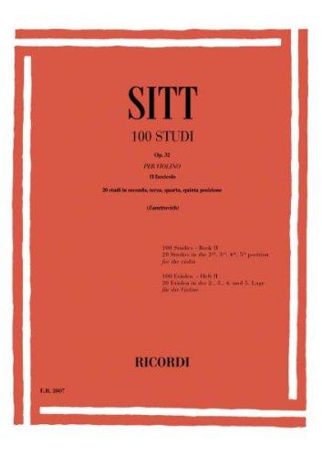 SITT - Estudios Op.32 Vol.2: 20 Estudios en 2ª a 5ª Posicion para Violin (Zanettovich)