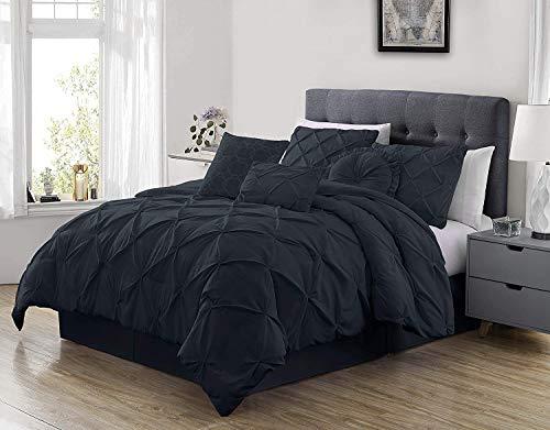 Sydney 7-Piece Pinch Pleat Pintuck Bedding Comforter Set ...