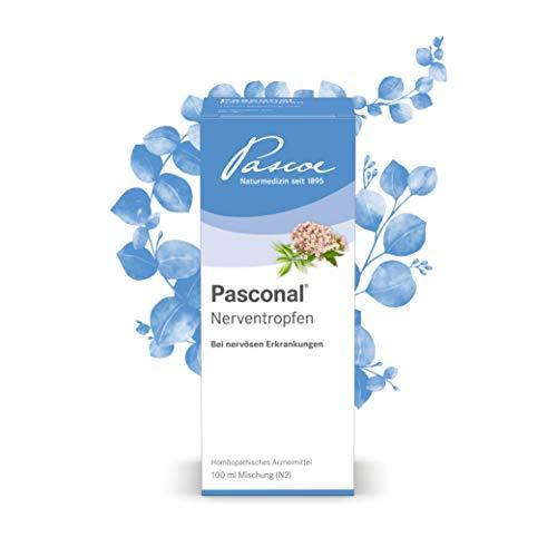 Pascoe® Pasconal Nerventropfen: bei nervösen Erkrankungen & Schlafstörungen bei Nervosität - mildert innere Unruhe & Reizbarkeit - mit Baldrian & Hafer - laktosefrei, zuckerfrei & glutenfrei (100 ml)