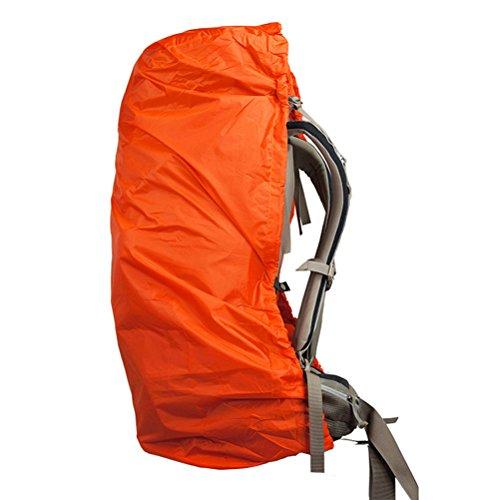 NUOLUX Outdoor Camping randonnée sac à dos sac à dos couvercle anti-poussière habillage pluie 60-90L (Orange)