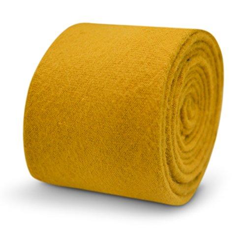 Cravate homme en laine vierge moutarde Frédéric Thomas